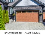 garage door in vancouver ... | Shutterstock . vector #710543233