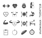 fitness and healthy care icons... | Shutterstock .eps vector #710547118