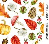 seamless autumn pattern....   Shutterstock . vector #710547160