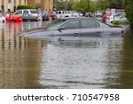 cars submerged  in houston ... | Shutterstock . vector #710547958