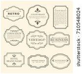 set of 9 vintage poster. black... | Shutterstock .eps vector #710548024