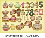 bday vector set | Shutterstock .eps vector #71055397