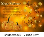 abstract musical background on... | Shutterstock .eps vector #710557294