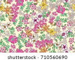 flowers background | Shutterstock . vector #710560690