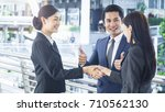 group of business people of man ... | Shutterstock . vector #710562130