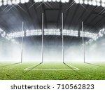 an aussie rules football... | Shutterstock . vector #710562823
