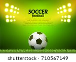 soccer football stadium... | Shutterstock .eps vector #710567149