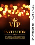 vip invitation card with gold... | Shutterstock .eps vector #710567188