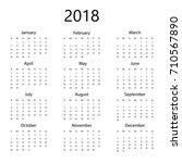simple office calendar for 2018 ...   Shutterstock .eps vector #710567890