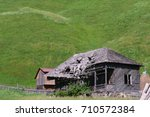 Old Abandoned Wooden House Wit...