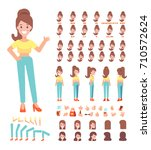 front  side  back view animated ... | Shutterstock .eps vector #710572624