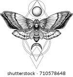 black and white deadhead... | Shutterstock .eps vector #710578648