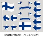 finland flag set. collection of ... | Shutterstock .eps vector #710578924