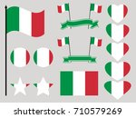 italy flag set. collection of... | Shutterstock .eps vector #710579269