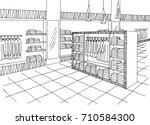 shop mall interior graphic... | Shutterstock .eps vector #710584300