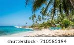 panoramic view of the beach... | Shutterstock . vector #710585194