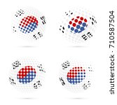 south korea halftone flag set... | Shutterstock .eps vector #710587504