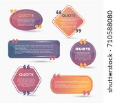 quote bubbles   modern vector... | Shutterstock .eps vector #710588080