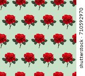 seamless vintage pattern with... | Shutterstock .eps vector #710592970