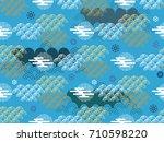 beautiful japanese seamless ... | Shutterstock .eps vector #710598220