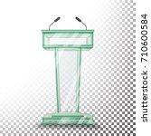 transparent glass podium... | Shutterstock .eps vector #710600584