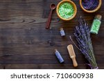 bath salt in herbal cosmetic... | Shutterstock . vector #710600938
