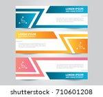 abstract banner template design.... | Shutterstock .eps vector #710601208