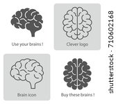 brain icon. vector... | Shutterstock .eps vector #710602168