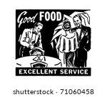 good food excellent service  ... | Shutterstock .eps vector #71060458
