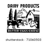 Dairy Products   Retro Ad Art...
