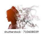 asian girl is beautiful and... | Shutterstock . vector #710608039
