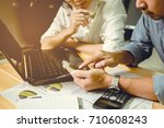 business consultants are... | Shutterstock . vector #710608243