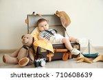 Cute Little Boy Lying In...