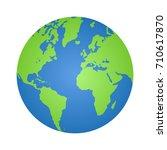 planet earth or world globe...   Shutterstock .eps vector #710617870