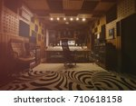 interior of recording studio | Shutterstock . vector #710618158