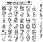 medical and health concept...   Shutterstock .eps vector #710619280