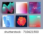 set of covers with different... | Shutterstock .eps vector #710621503