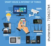 smart house and internet of... | Shutterstock .eps vector #710621764