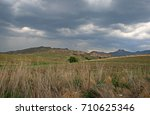 Arable Land With Mountains In...
