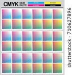 colour palette to cmyk. process ... | Shutterstock .eps vector #710627896
