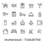premium set of hotel line icons.... | Shutterstock .eps vector #710630740