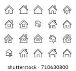 premium set of home line icons.