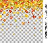 seamless border autumn falling... | Shutterstock . vector #710631280