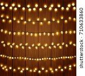 realistic christmas lights... | Shutterstock .eps vector #710633860