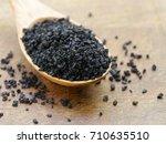gourmet salt   black variety | Shutterstock . vector #710635510