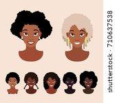 cute cartoon black girls with...