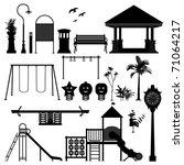 playground park garden equipment | Shutterstock .eps vector #71064217