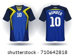soccer jersey template. mock up ... | Shutterstock .eps vector #710642818