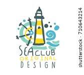 sea club logo original design ... | Shutterstock .eps vector #710643214