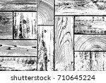 distressed grainy wood overlay... | Shutterstock .eps vector #710645224